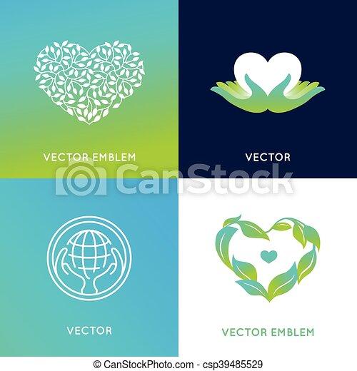 Vector set of logo design templates and badges - csp39485529