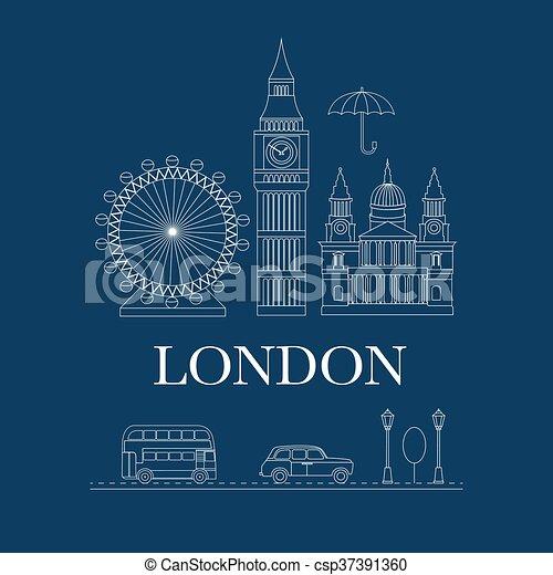 Vector set of London - csp37391360
