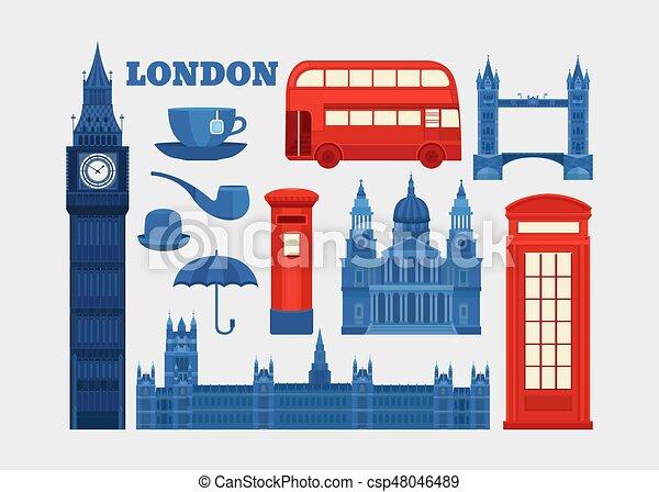 Vector set of London. - csp48046489