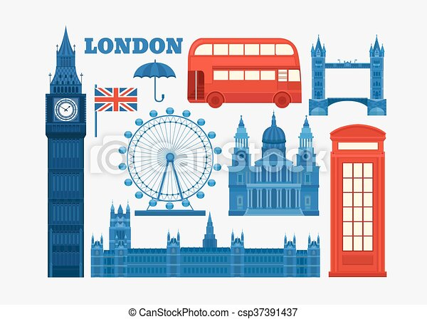 Vector set of London - csp37391437