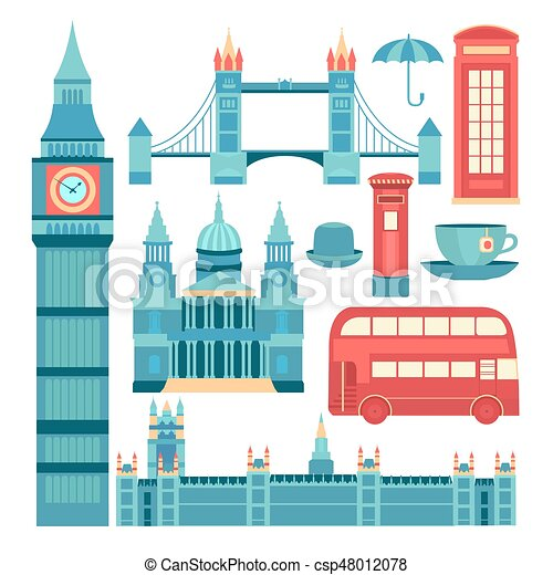 Vector set of London - csp48012078