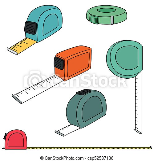 vector set of measuring tape - csp52537136