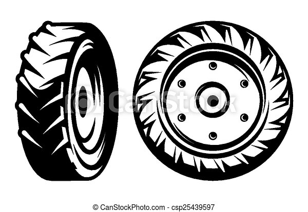 vector set of monochromatic tractor - csp25439597