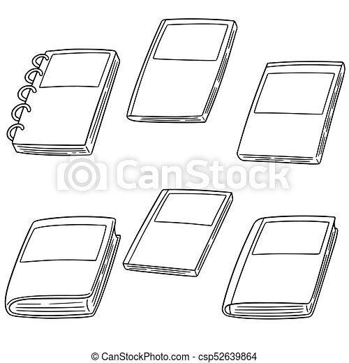 vector set of notebook - csp52639864