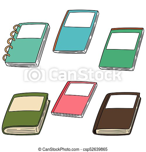 vector set of notebook - csp52639865