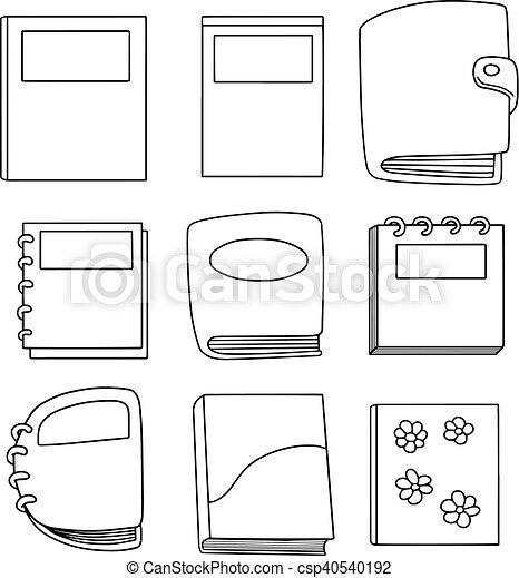 vector set of notebook - csp40540192