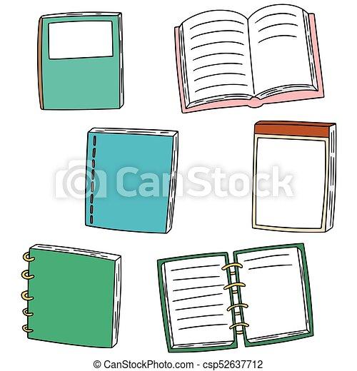 vector set of notebook - csp52637712