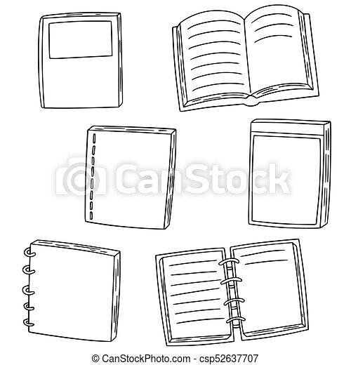vector set of notebook - csp52637707