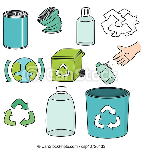 vector set of recycle icon - csp40726433