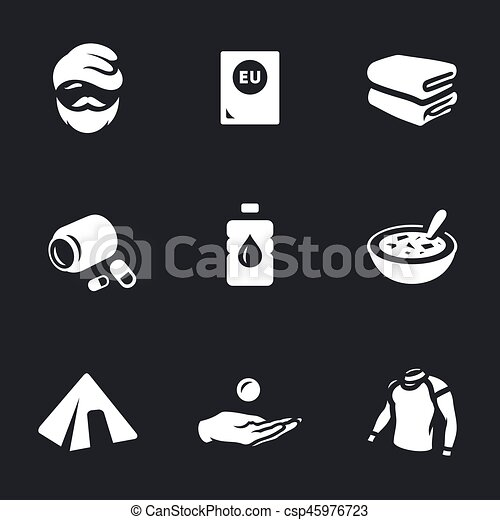 Vector Set of Refugee Icons. - csp45976723