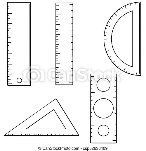 vector set of ruler - csp52638409