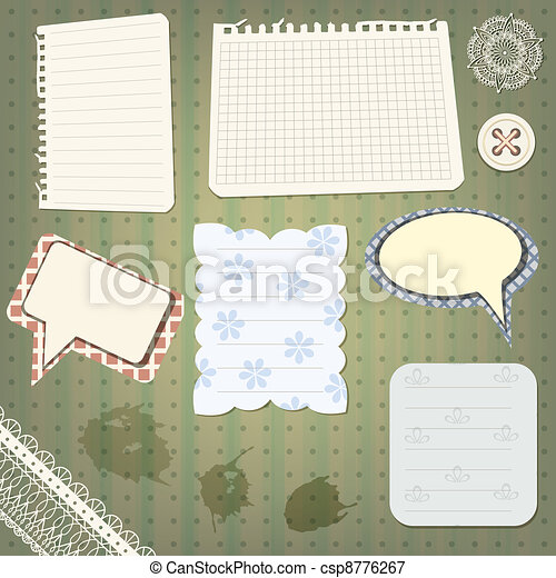 vector set of scrapbook design elements - csp8776267