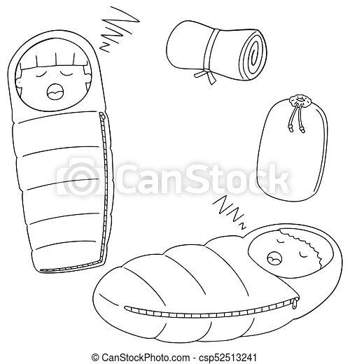 Vector Set Of Sleeping Bag