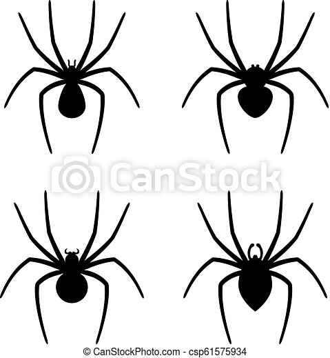 vector set of spider icons