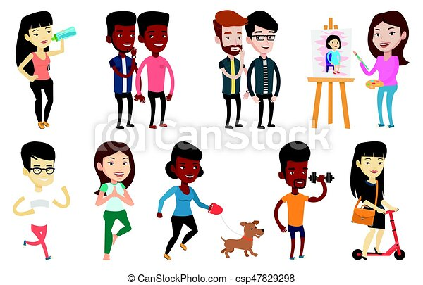 Vector set of sport characters. - csp47829298