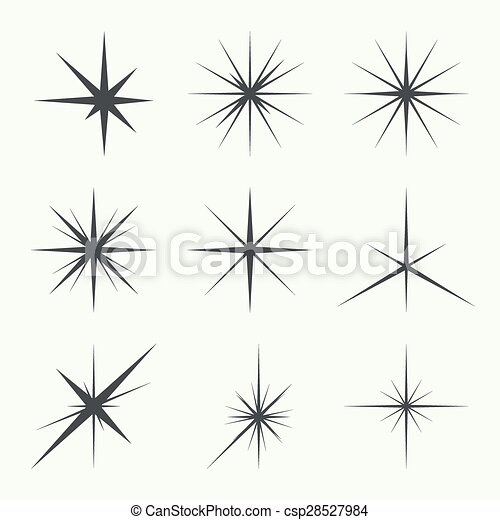 Vector set of stars - csp28527984