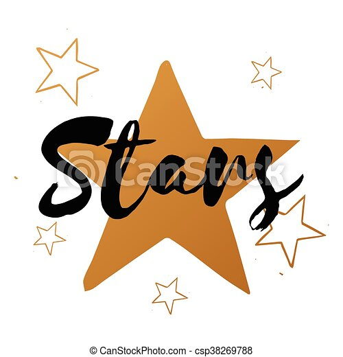 vector set of stars with black text big gold star design vector rh canstockphoto com Gold Confetti Dots Gold Confetti Brush Photoshop