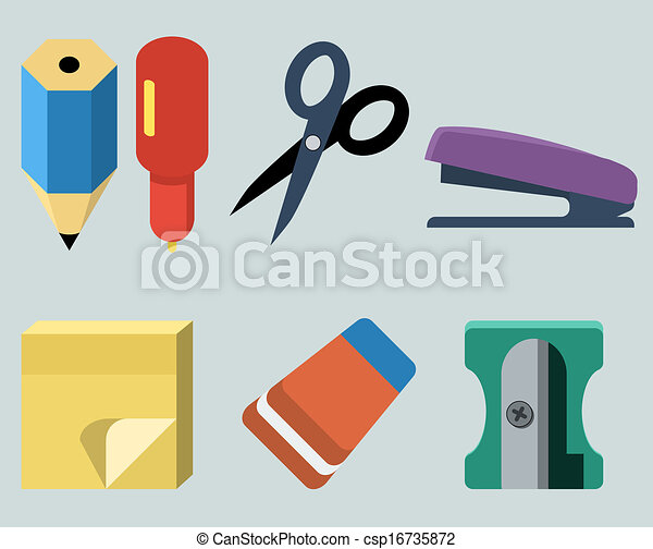 Vector set of stationery - csp16735872