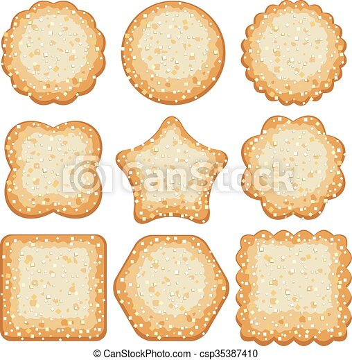 vector set of sugar cookies vector clip art search illustration rh canstockphoto com Cookie Border Clip Art Smart Cookie Clip Art