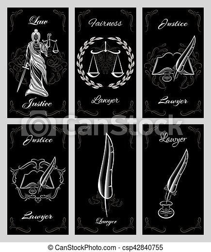Vector set of template and design elements for lawyers business vector set of template and design elements for lawyers business cards reheart Gallery