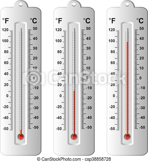 vector set of thermometers at different levels - csp38858728