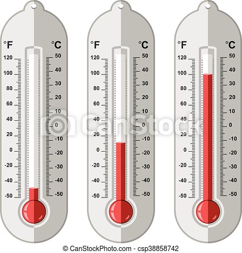 vector set of thermometers - csp38858742