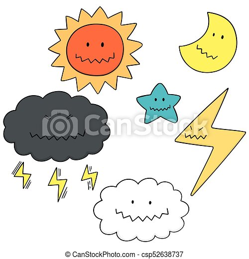 vector set of things in the sky vectors search clip art rh canstockphoto com clip art of skipping clip art of skier
