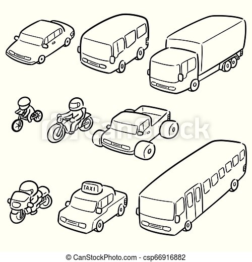 vector set of transportation and vehicle - csp66916882