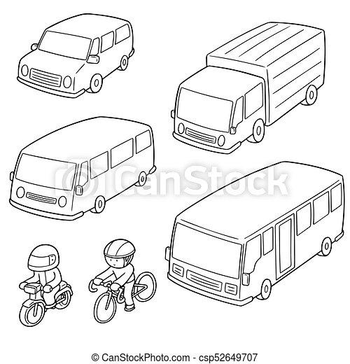 vector set of transportation - csp52649707