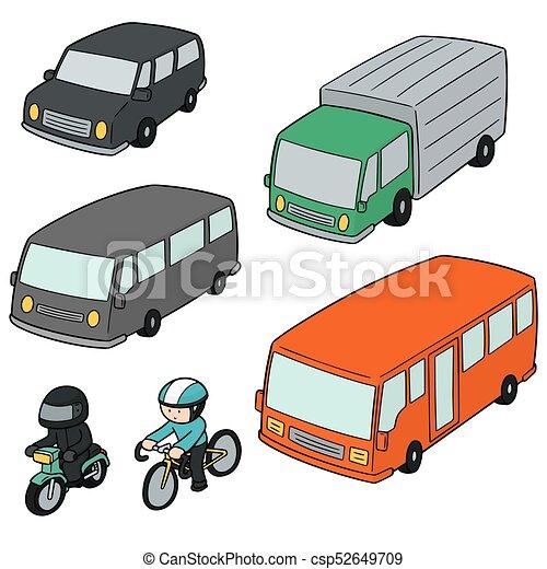 vector set of transportation - csp52649709