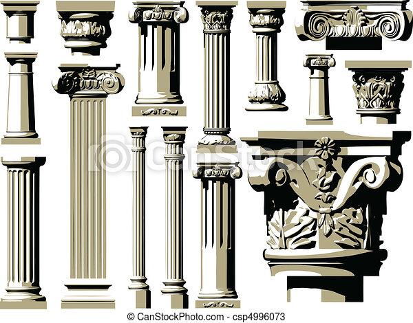 Vector set of vintage ancient colum - csp4996073