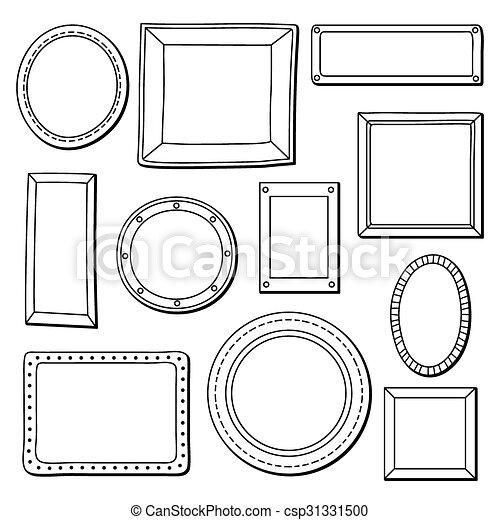 Vector set of vintage frames - csp31331500