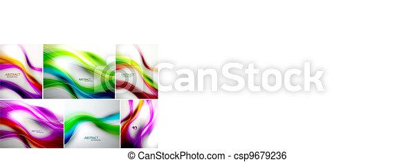 Vector set of wave backgrounds - csp9679236