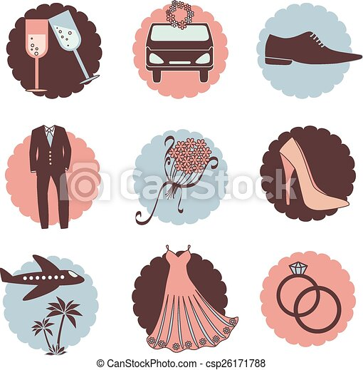 Vintage Wedding Icons