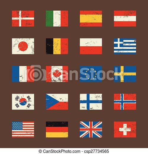 Vector set of world flags. - csp27734565