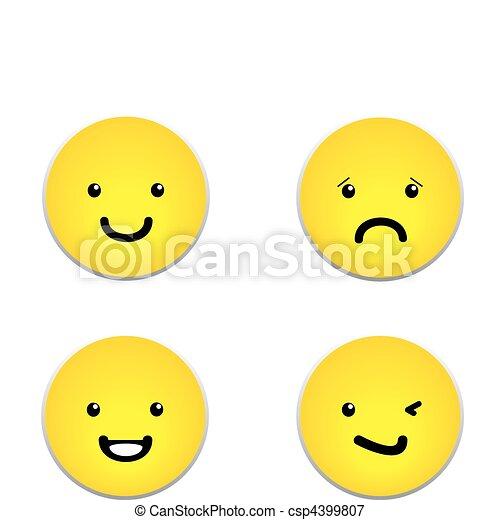 Vector set of yellow smiley faces - csp4399807