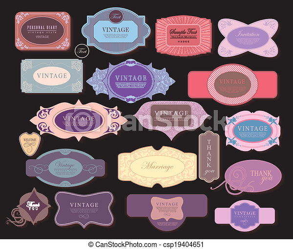 vector set: tickets in different styles - csp19404651