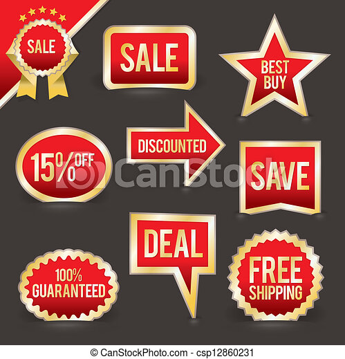 vector, set, verkoop, kentekens, foiled - csp12860231
