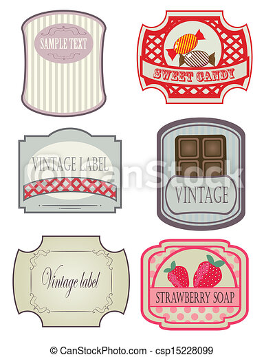 Vector set vintage labels - csp15228099