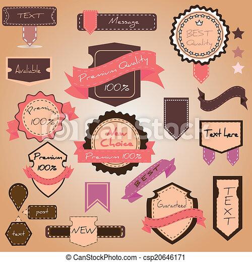 Vector set vintage labels - csp20646171