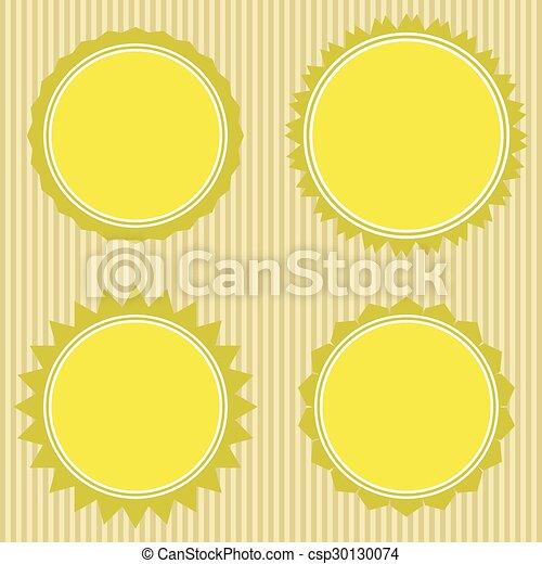 vector set: vintage labels - csp30130074