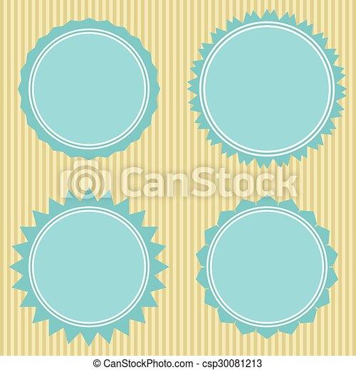 vector set: vintage labels - csp30081213