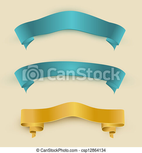 vector set with ribbons - csp12864134