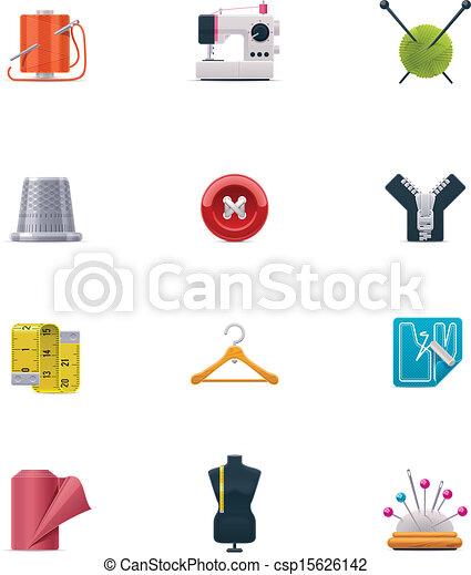 Vector sewing icon set - csp15626142