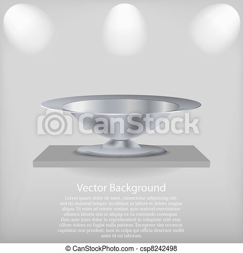 vector shelf with a tray. Background. Best choice - csp8242498