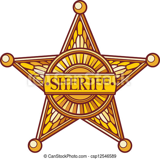 Vector Sheriff S Star Sheriff Badge Sheriff Shield