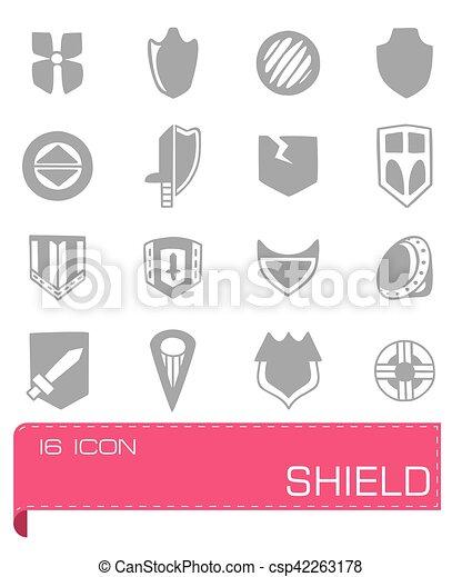 Vector Shield icon set - csp42263178