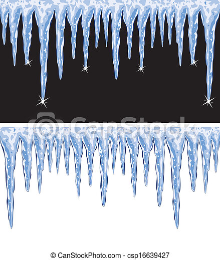 vector shiny icicles  - csp16639427