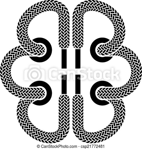 vector shoe lace brain symbol - csp21772481