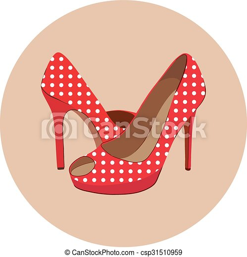 vector shoes isolated on white - csp31510959